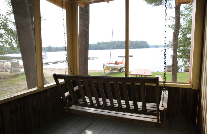 Porch view at Holiday Acres Resort.