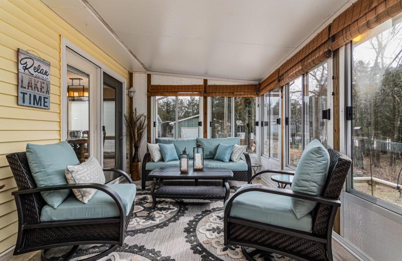 Rental porch at Amazing Branson Rentals.