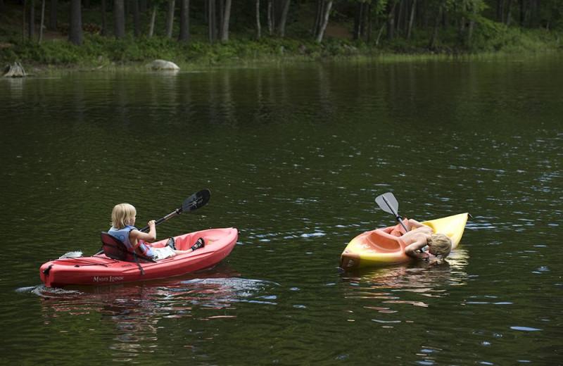 Kayaking at Migis Lodge.