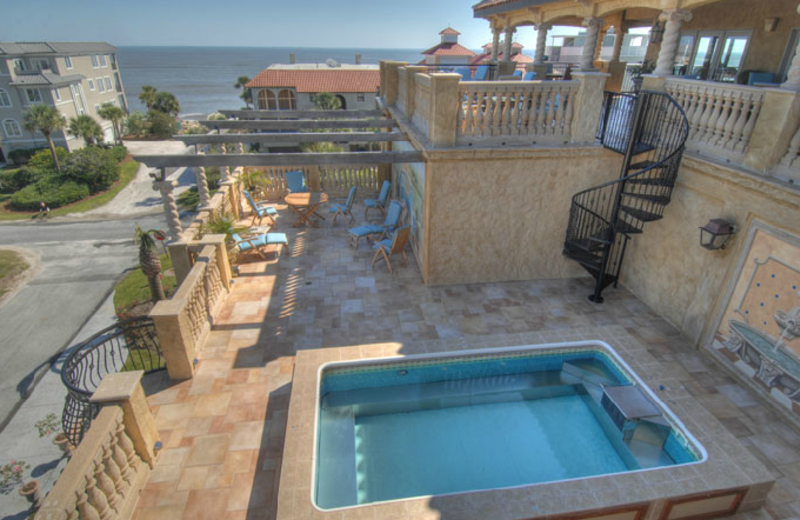Pool And Balcony at Ocean Lodge