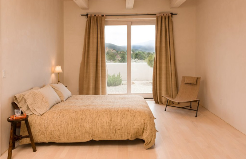 Bedroom at Adobe Zen House.