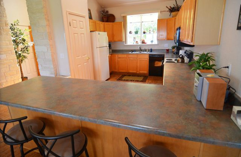 Rental kitchen at Lake Travis & Co.