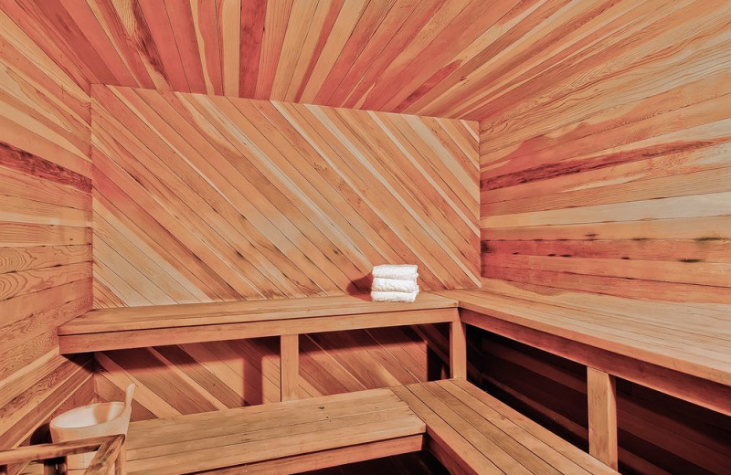 Sauna at Torian Plum Resort.