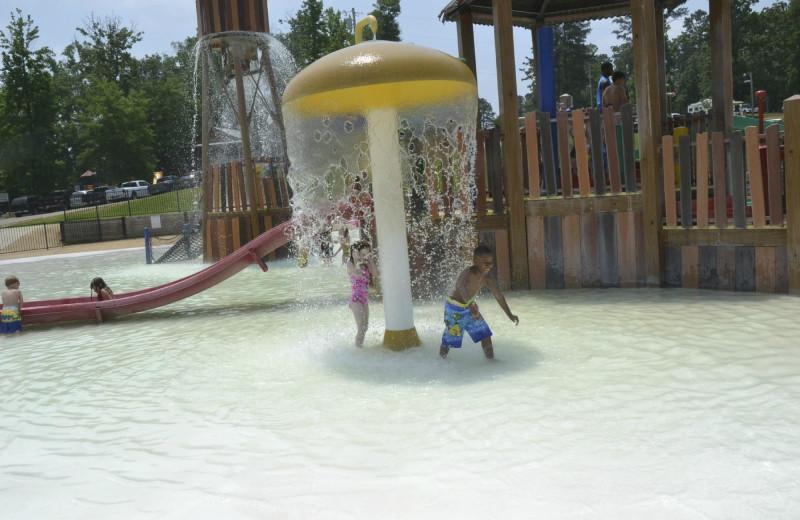 Waterpark at Yogi on the Lake.