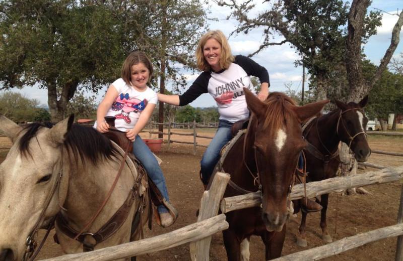 Horseback riding at Twin Elm Ranch.
