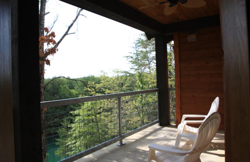 Condo balcony at Highland Rim Retreats.