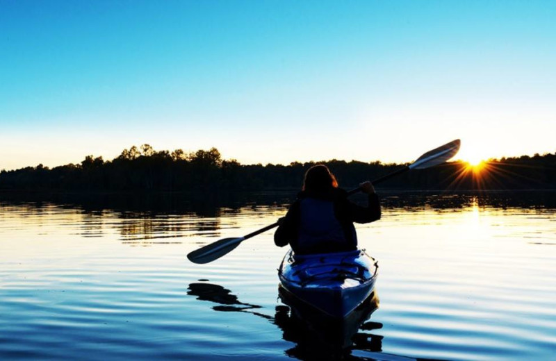 Kayaking at Drummond Island Resort and Conference Center.