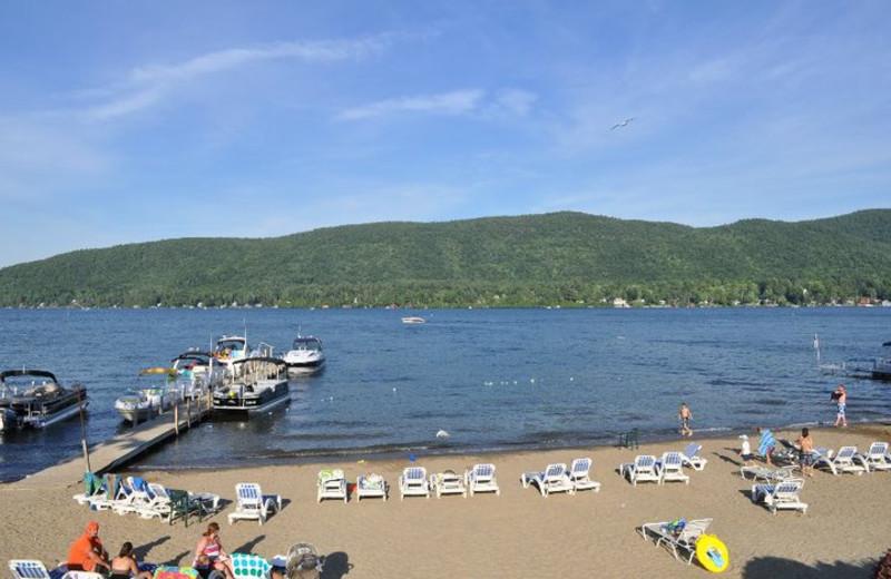 The beach at Marine Village Resort.
