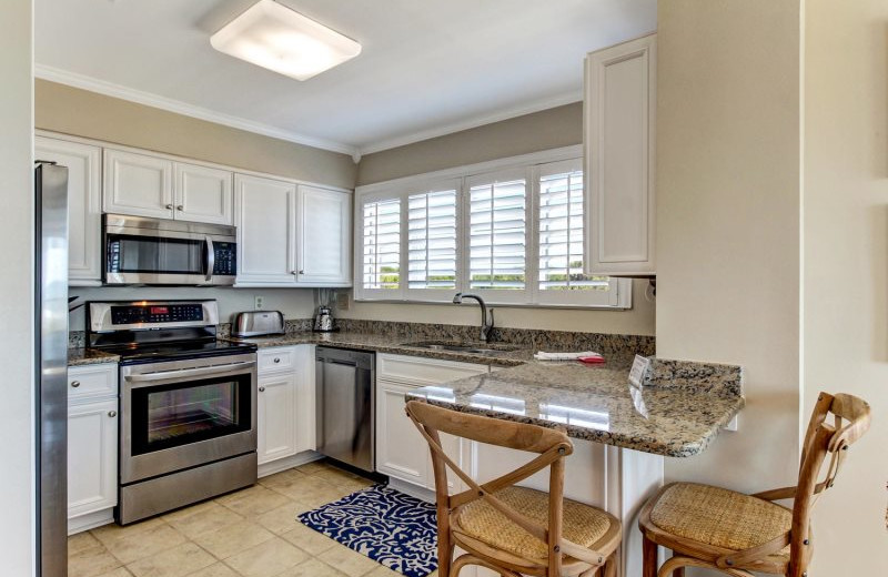Rental kitchen at Amelia Rentals and Management Services.