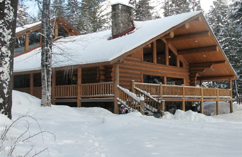 Cabin exterior at Western Pleasure Guest Ranch.