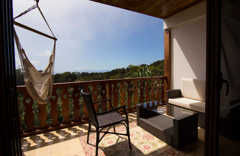 Balcony at Hotel Belmar.