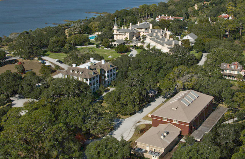 Arial view at Jekyll Island Club Hotel.