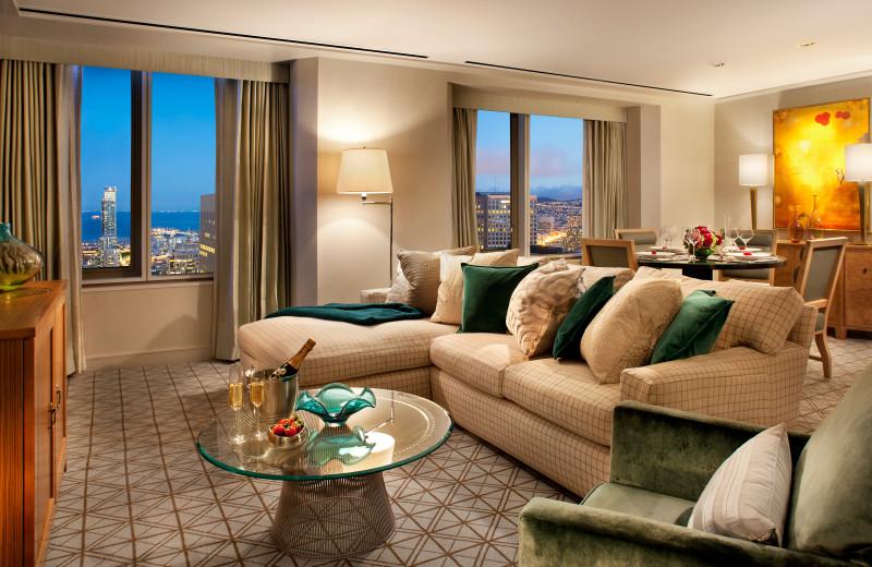 Guest suite at Mandarin Oriental.