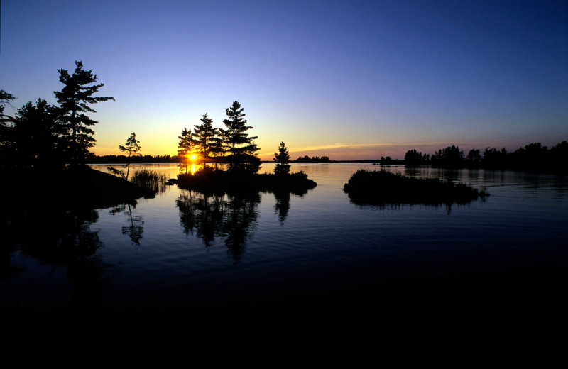 Sunset at Kabetogama Lake Association.