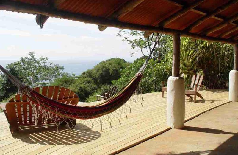 Patio at Bosque del Cabo.