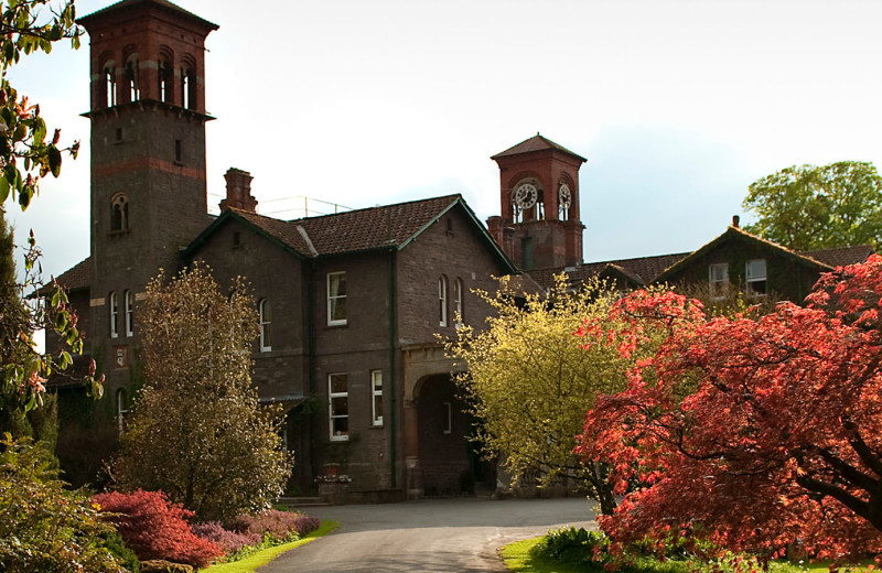 Exterior view of Gliffaes Country House Hotel.