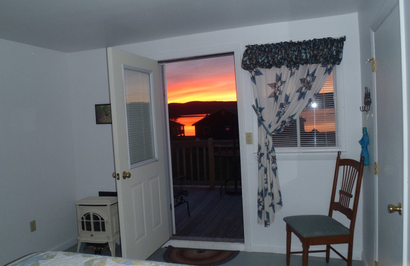 Sunset view from Jackson's Lodge Wayfarer room.