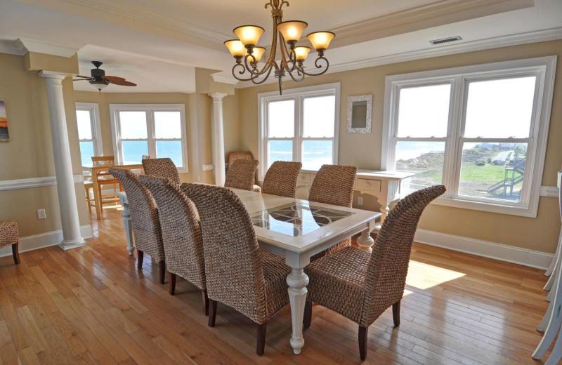Rental dining room at Treasure Realty.