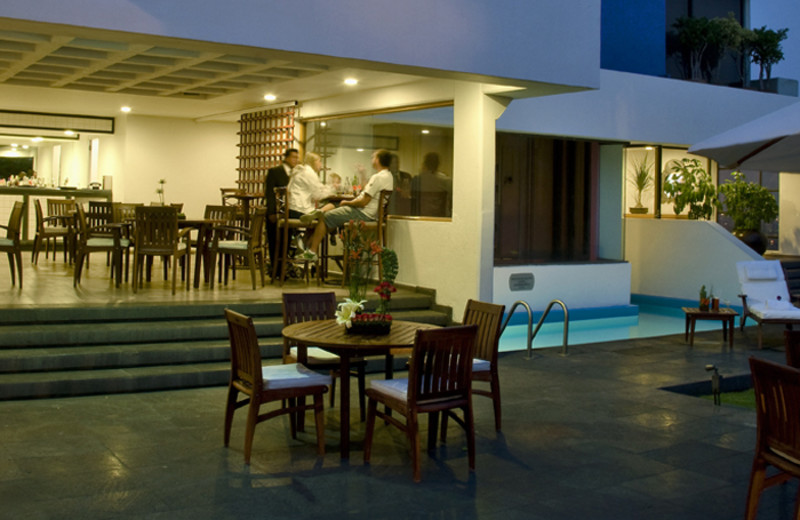 Dining at Royal Zona Rosa Hotel.