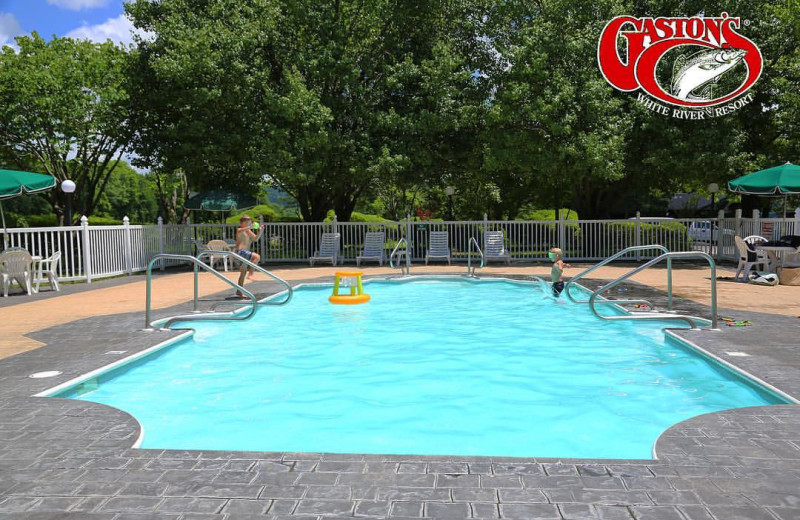 Outdoor pool at Gaston's White River Resort.