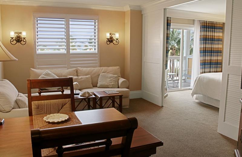 Guest suite at Sheraton Suites Key West.