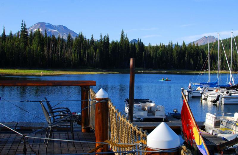 Lake view at Elk Lake Resort.