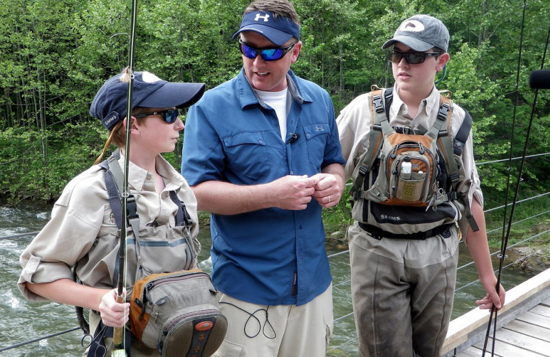 Fishing at Harman's Luxury Log Cabins.