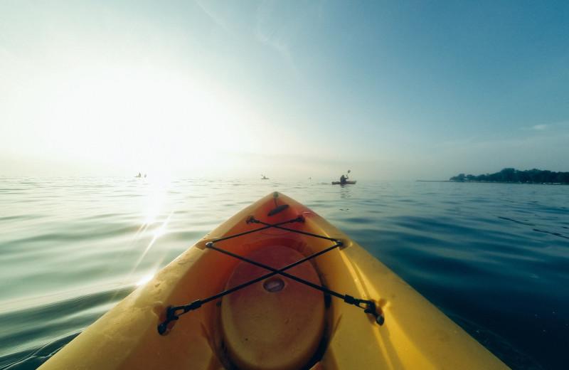 Kayaking at Aqua Breeze Inn.