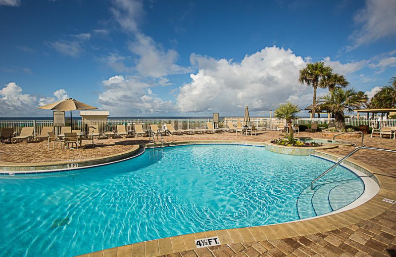 Outdoor pool at Sterling Sands Condominiums.