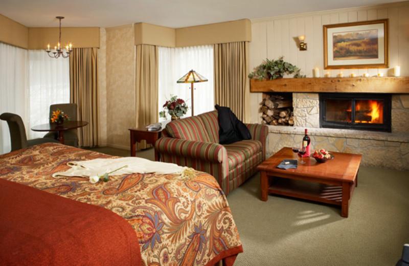 KIng Fireplace View at  Eagle Ridge Resort