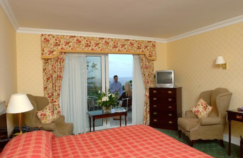 Guest room at Fernhill Hotel.