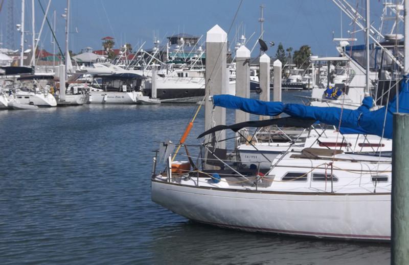 Boats at Sea Breeze Suites Port Aransas.