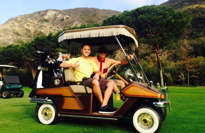 Golfing at The Ranch at Laguna Beach.