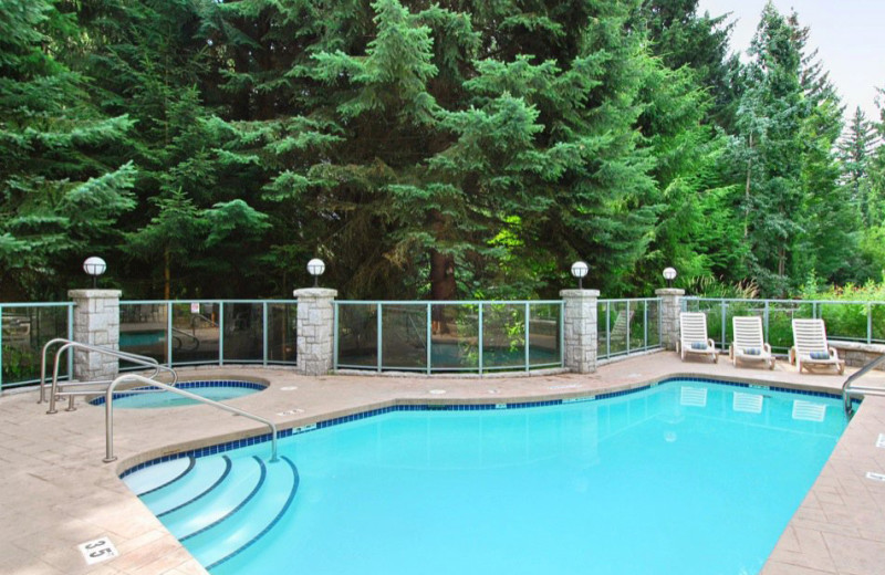 Outdoor pool at Summit Lodge & Spa Whistler.