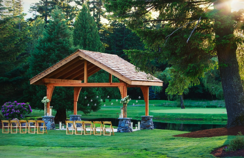 Ceremony pavilion at The Resort at the Mountain.