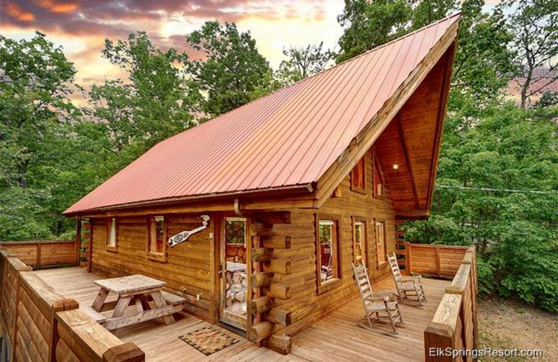 Cabin exterior at Elk Springs Resort.