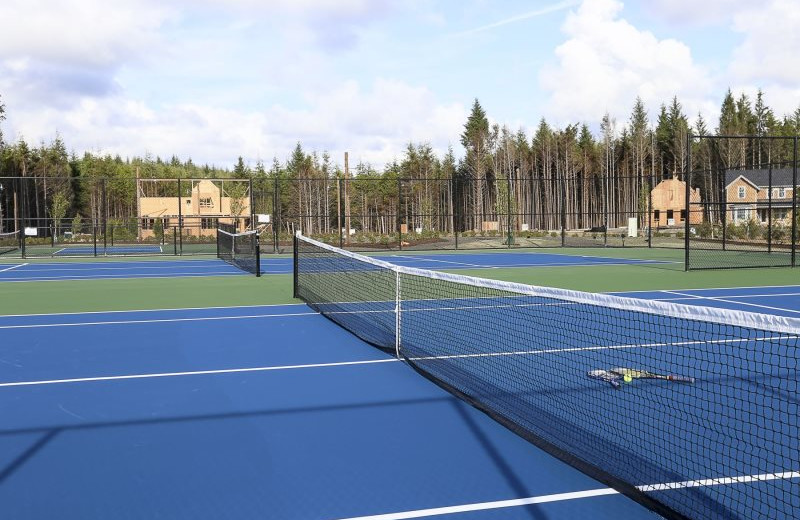 Tennis court at Seabrook Cottage Rentals.