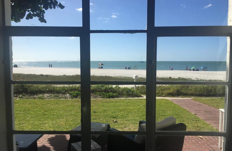 Rental beach view at Sunset Beach Resort.