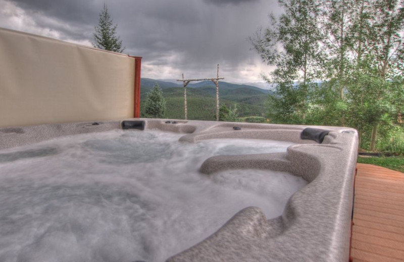Vacation rental hot tub at SkyRun Vacation Rentals - Nederland, Colorado.
