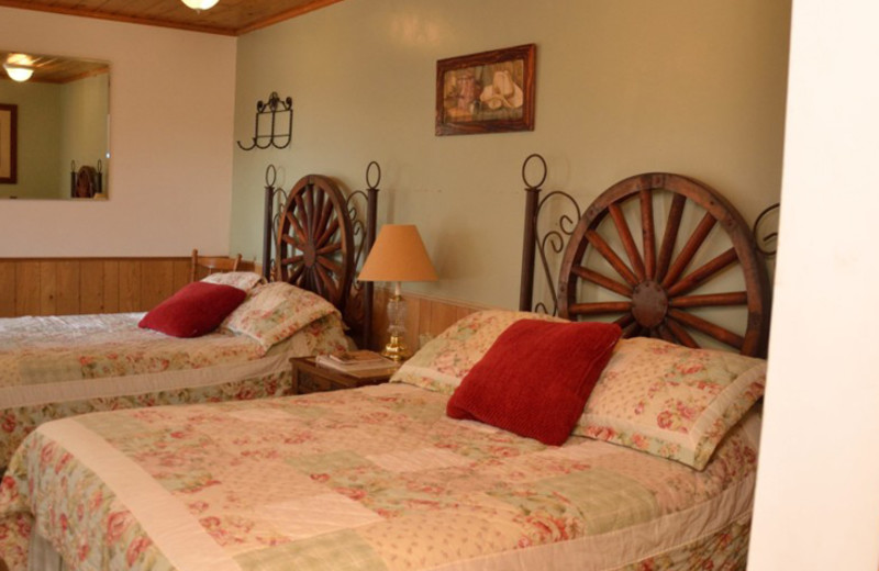 Guest room at Silver Spur Guest Ranch.