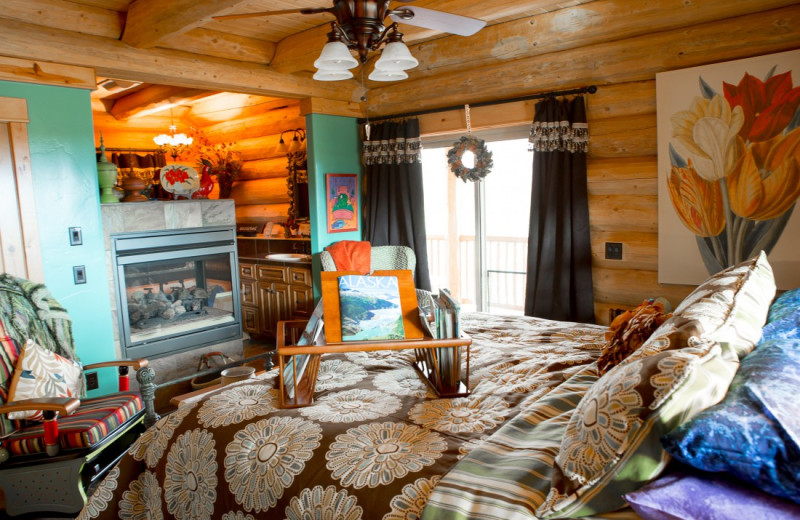 Guest room at Matanuska Lodge.
