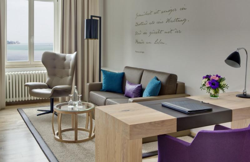 Guest room at Steigenberger Inselhotel.