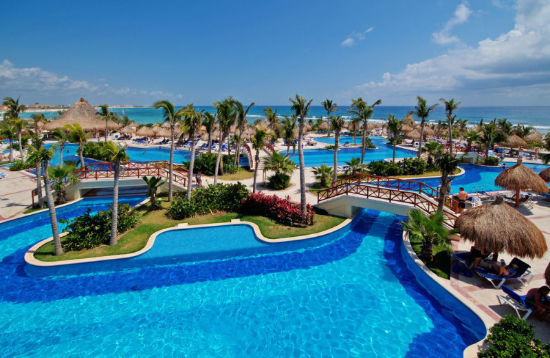 Outdoor pool at Bahia Principe Akumal.