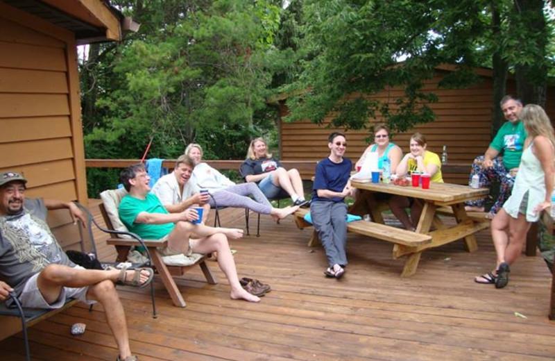Vacation rental deck at Island Club Rentals.