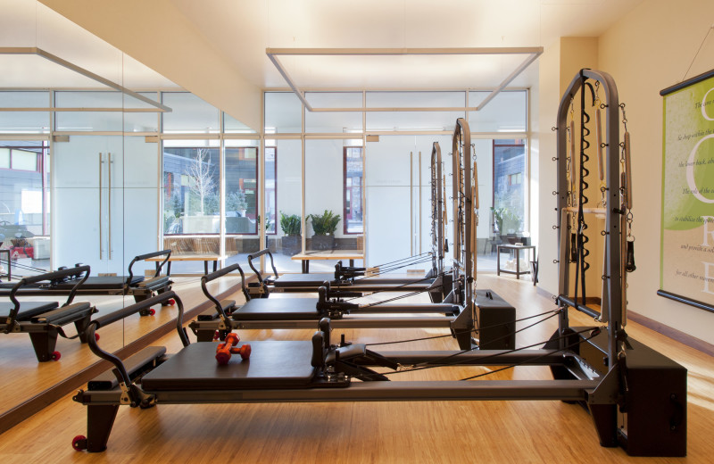 Fitness room at The Westin Riverfront Resort & Spa.