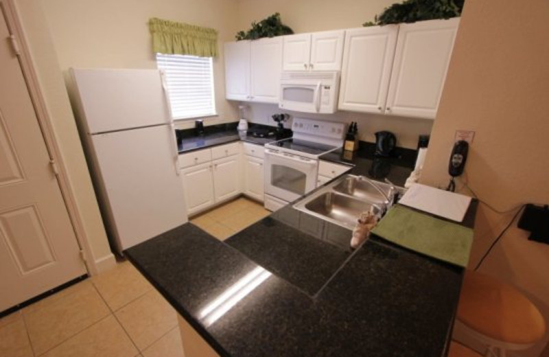 Fully equipped kitchens at Elite Vacation Homes.