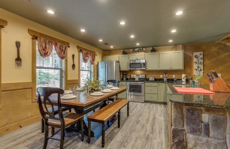 Rental kitchen at Eden Crest Vacation Rentals, Inc.