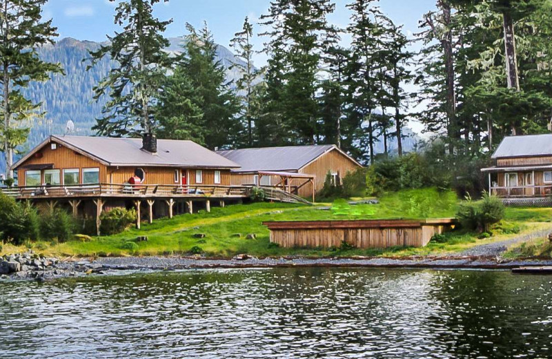 Exterior view of Alaska's Big Salmon Lodge.