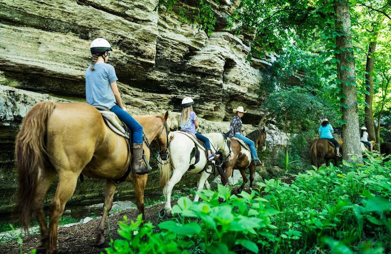 Horseback riding near Amazing Branson Rentals.