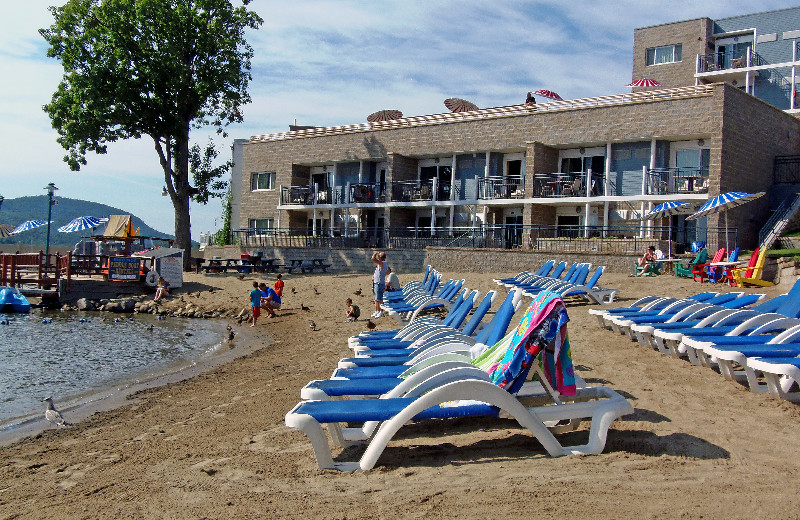 Beach at Surfside on the Lake.